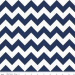 Choose Your Fabric:: Blue and White Chevron