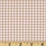 Choose Your Fabric:: Flannel Brown and White Check