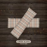 Choose Your Fabric:: Tan Plaid Linen