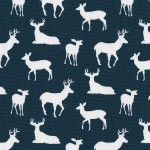 Choose Your Fabric:: Prussian Blue Deer